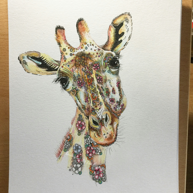 Luna the Giraffe Limited edition Art Print