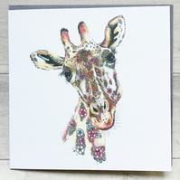 Luna the Giraffe Greeting card