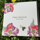 Happy Anniversary to you both a Greeting card