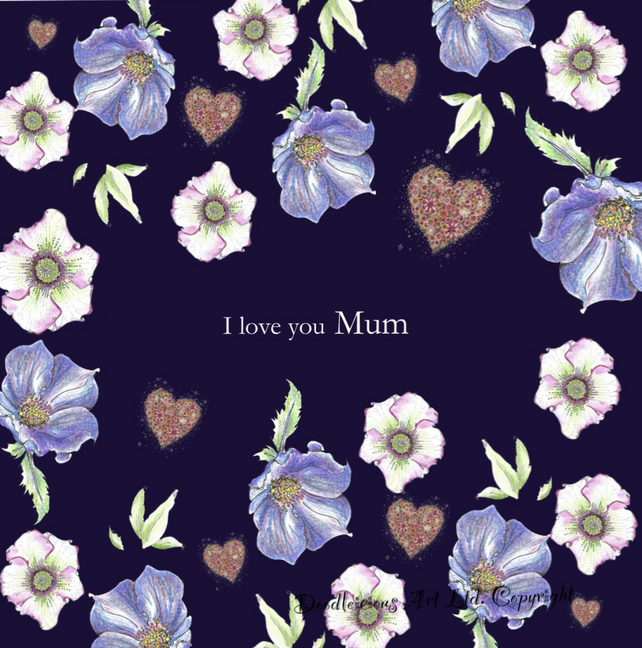 I love you Mum Greeting card