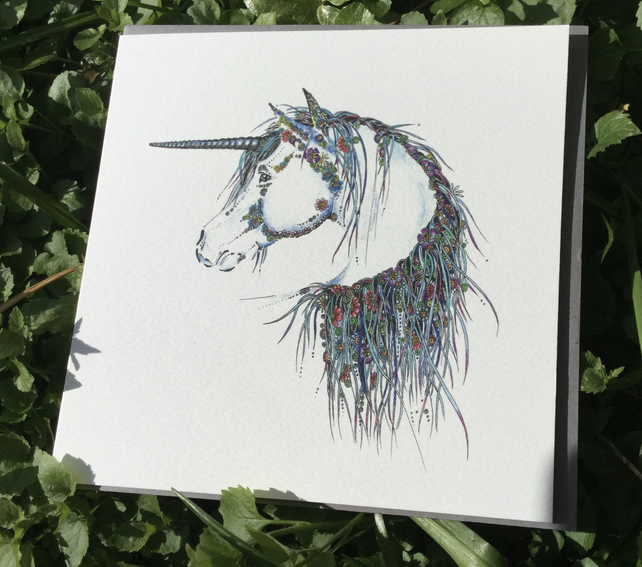 Beautiful Unicorn Greeting card