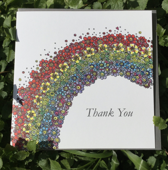 Rainbow Thank you Greeting card