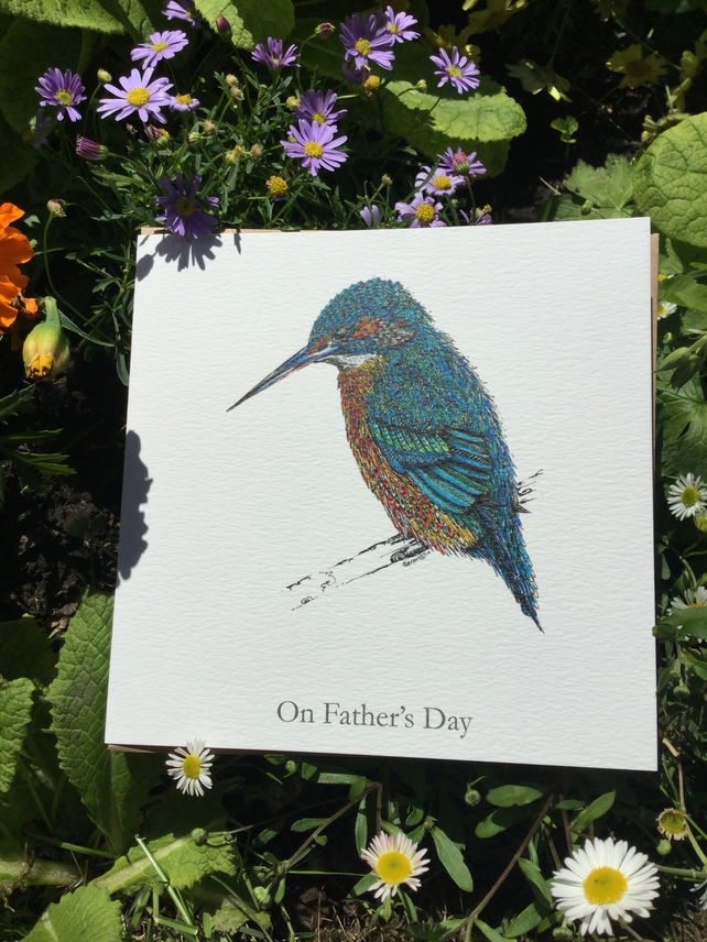 Fathers Day Kingfisher card