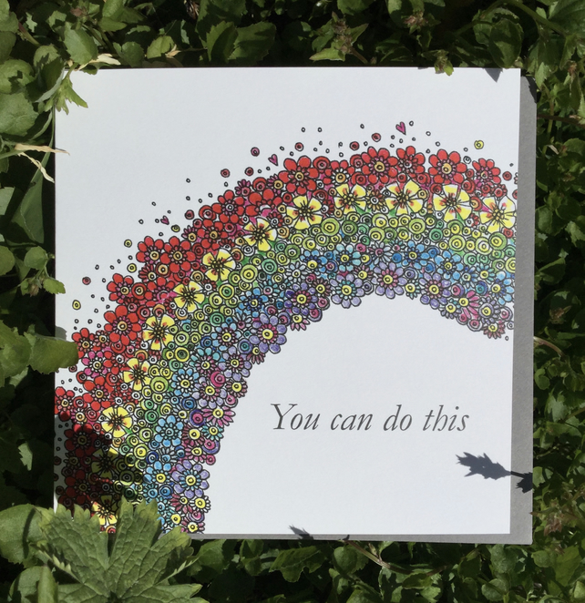 You can do this Rainbow Greeting card