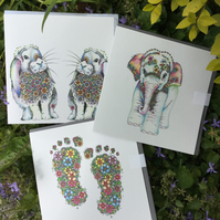New baby bundle of greeting cards