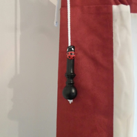 Ladybird Light Pull & Cord..................Wrought Iron (Forged Steel)