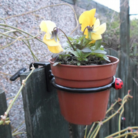 Clamp-on Plant Pot Ring.............................Wrought Iron (Forged Steel)