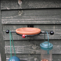 "WROUGHT IRON ""LADYBIRD"" BIRD FEEDER KIT"