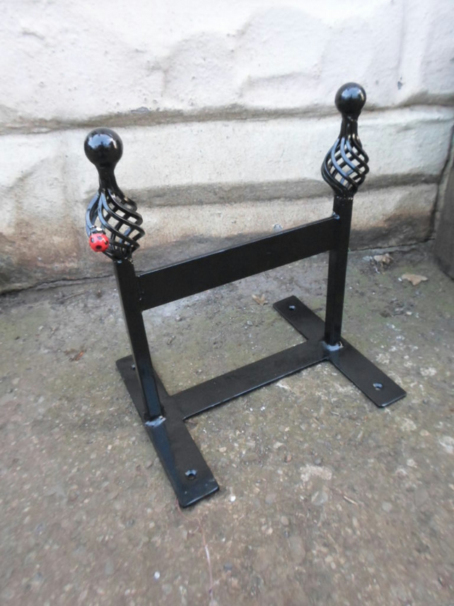 "WROUGHT IRON  (FORGED STEEL) CUSTOM MADE ""LADYBIRD"" BOOT SCRAPER"