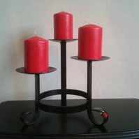 Candle Feature.............Wrought Iron (Forged Steel) Custom Made.Ladybird