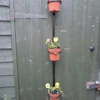 "WROUGHT IRON ""LADYBIRD"" PLANT POT DISPLAY RAIL"