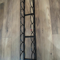 "WROUGHT IRON ""LADYBIRD"" 8 BOTTLE WINE  RACK"