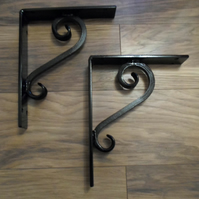 large heavy duty shelf brackets........Wrought Iron (Forged Steel) Custom Made