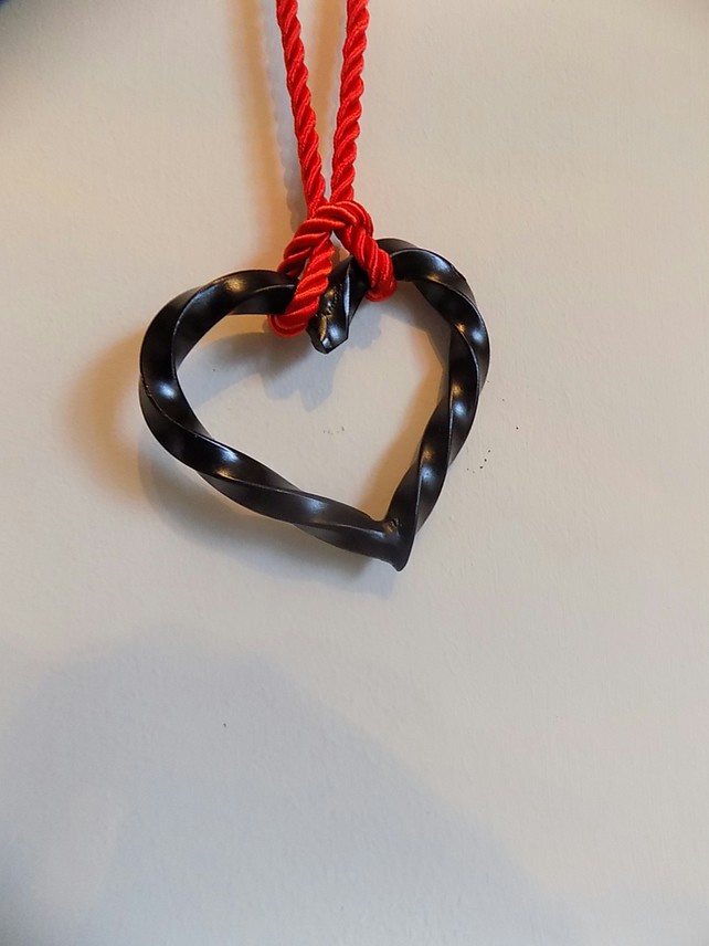 Hanging Heart Decoration...................Wrought Iron (Forged Steel) Hand Made