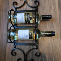 2 Bottle Wine Rack,,......,Wrought Iron (Forged Steel) Custom Made