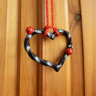 Ladybird Heart .......................Wrought Iron (Forged Steel) UK Free Post