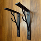 A Quality Made Pair of Wrought Iron (Forged Steel) Custom Made Shelf Brackets