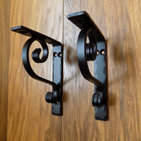 hand made shelf brackets..........Wrought Iron (Forged Steel) UK Free Post