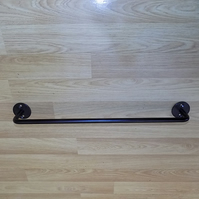 "18"" Long Towel Rail.................Wrought Iron (Forged Steel) Hand Made"