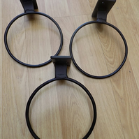 "3 x 5"" Plant Pot Ring Holders............Wrought Iron(Forged Steel)UK Free Post"