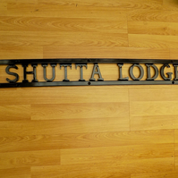 Outdoor Lettered Wall Plaque...................Wrought Iron (Forged Steel)
