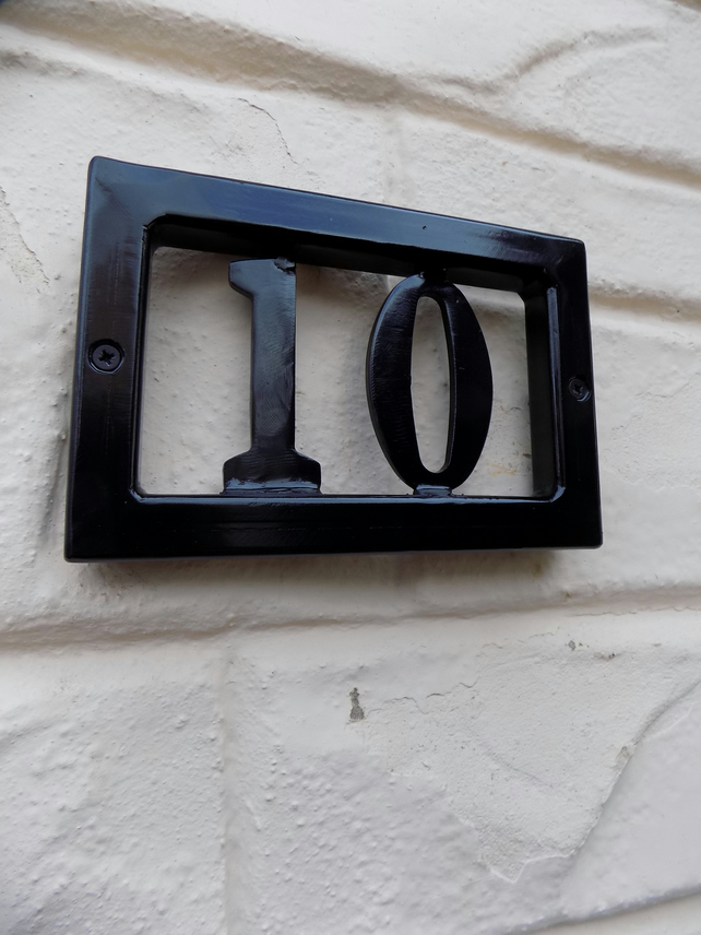 House Number Plaque.....................Wrought Iron (Forged Steel)