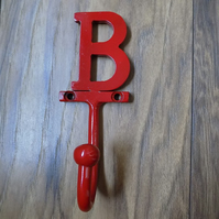 1.custom colour lettered hook.............Wrought Iron (Forged Steel )Hand Made