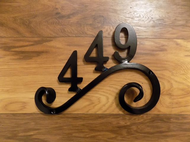 House Number Plaque................................Hand Crafted in Forged Steel.