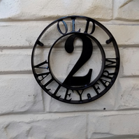 Address Sign......................Wrought Iron (Forged Steel) UK FREE POST!