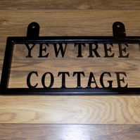Custom Signs UK Free Post...........................Wrought Iron (Forged Steel)