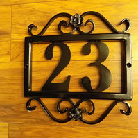 House Plaque..UK Free Post...............Wrought Iron (Forged Steel) Custom Made