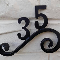 Two Number Plaque........Wrought Iron (Forged Steel) FREE Fittings