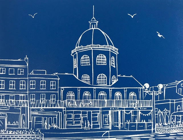 The Dome, Worthing II - an original limited edition handprinted linocut print