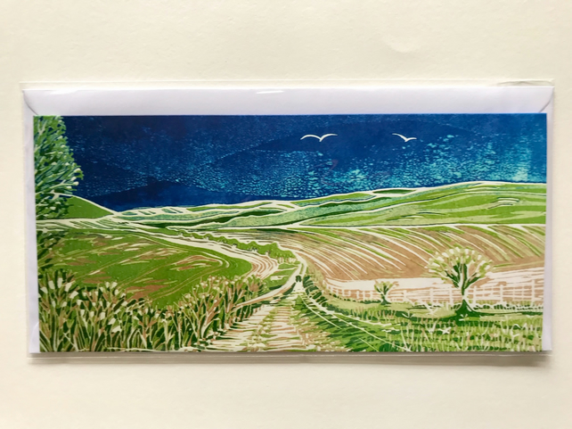 Set of Four Greetings Cards - South Downs Series