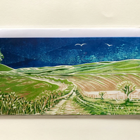 Set of Five Greetings Cards - South Downs Series