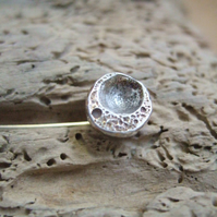 Sterling Silver Seed Pod Pin