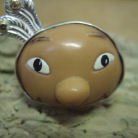 Dolls Head in Sterling Silver mount - Ring