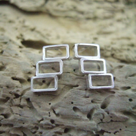 Sterling Silver Geometric Studs
