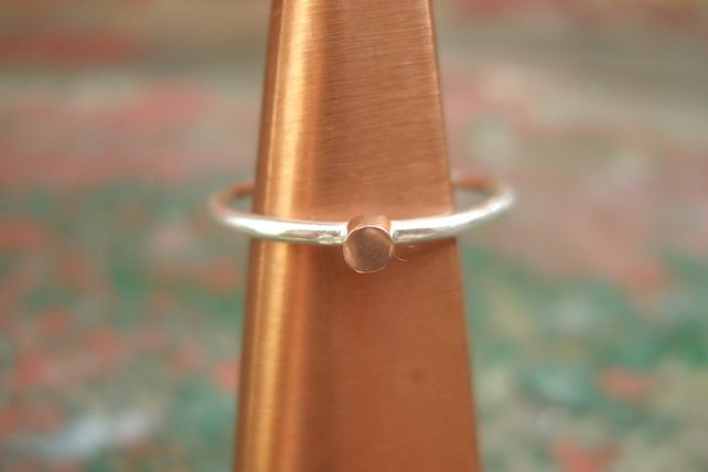 Sterling Silver and Copper Stacking Ring