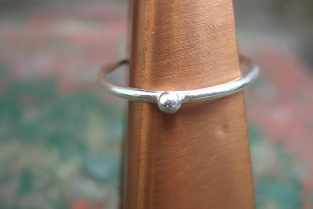 Sterling Silver Dot Stacking Ring