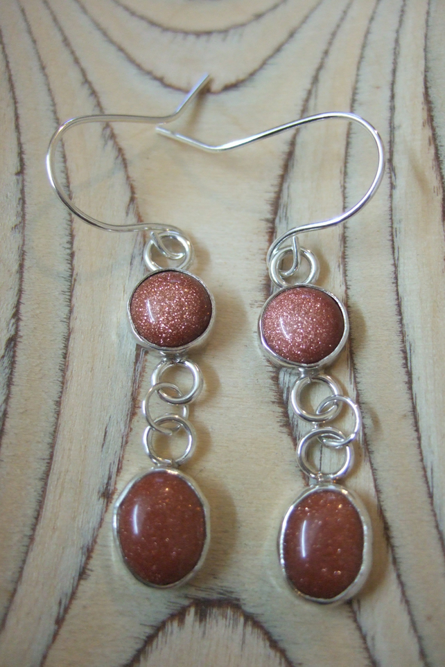 Sun stone Dangle Earrings