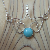 Sterling Silver and Amazonite Pendant