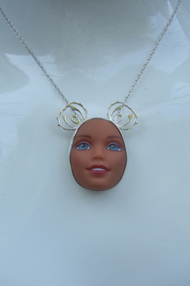 Sterling Silver Doll Face Pendant No. 3