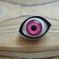 Large Pink Eye Lapel Pin