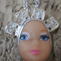 Sterling Silver Doll Face Pendant No. 17