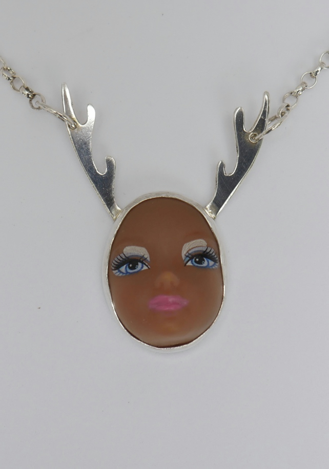 Sterling Silver Doll Face Pendant No. 5