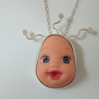 Sterling Silver Doll Face Pendant No. 6