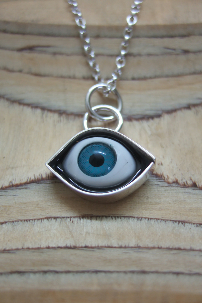 Small Sterling Silver Eye Pendant No. 4