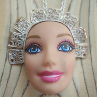 Sterling Silver Doll Face Pendant No. 2