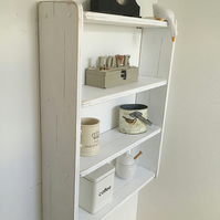 70cm H x 54cm W White Shabby Chic Shelves, Shelf, Bookcase, Spice Rack